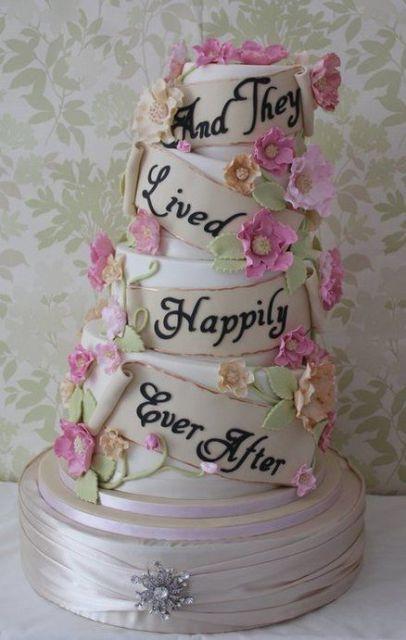 Topsy turvy wedding cake idea