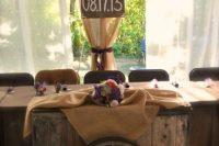 Wagon wheel decor for indoor weddings