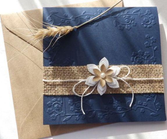 Wedding invitation for rustic wedding