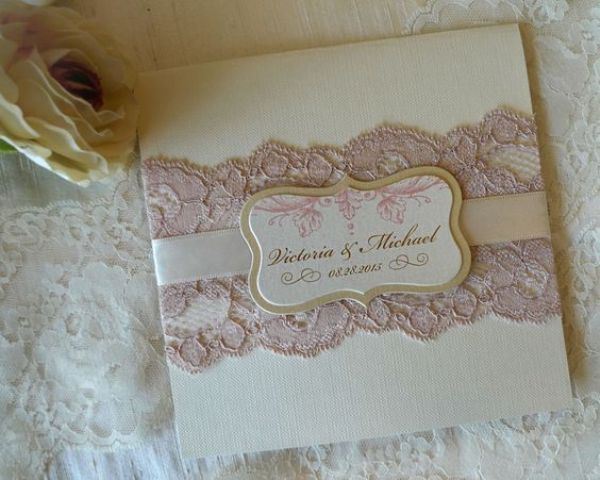 Wedding Invitation Lace: 21 Lace Wedding Invitation Ideas
