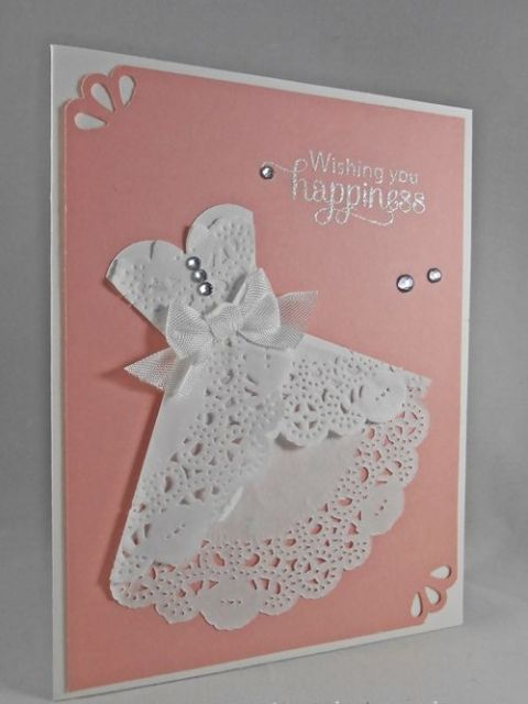 Picture of wedding invitation with lace dress image for Wedding dresses for invited guests