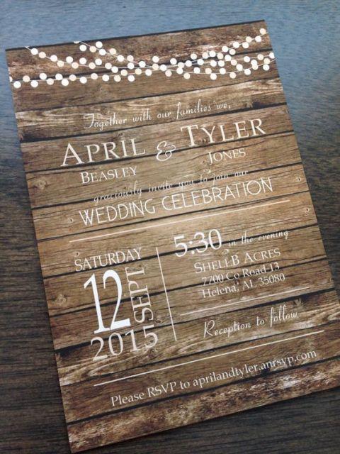 21 original wood wedding invitation ideas