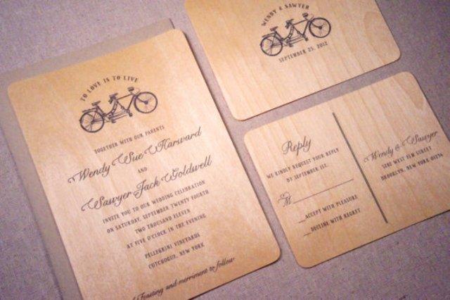 21 Original Wood Wedding Invitation Ideas - Weddingomania