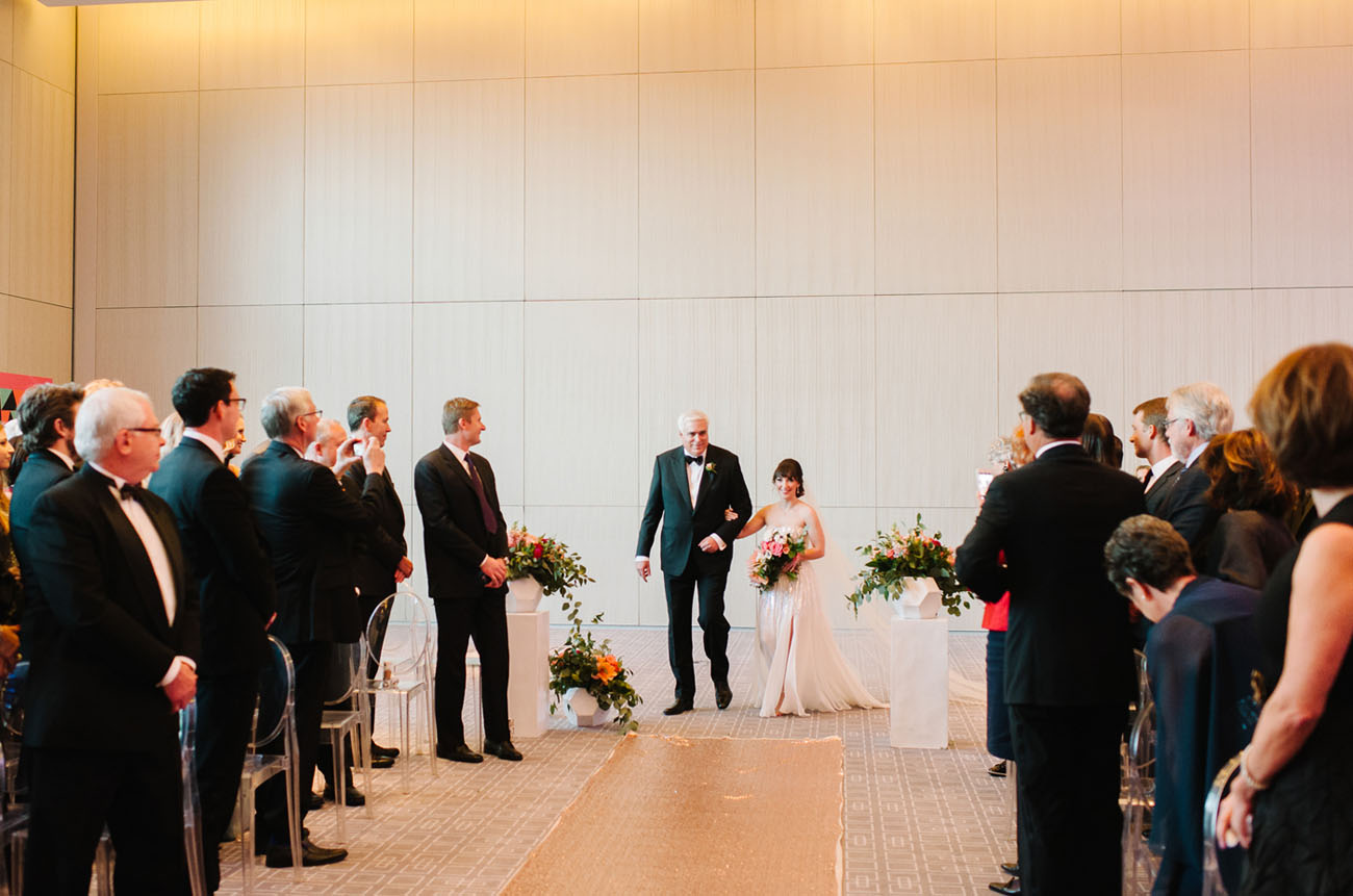 Picture Of black and gold wedding filled with confetti and champagne  18