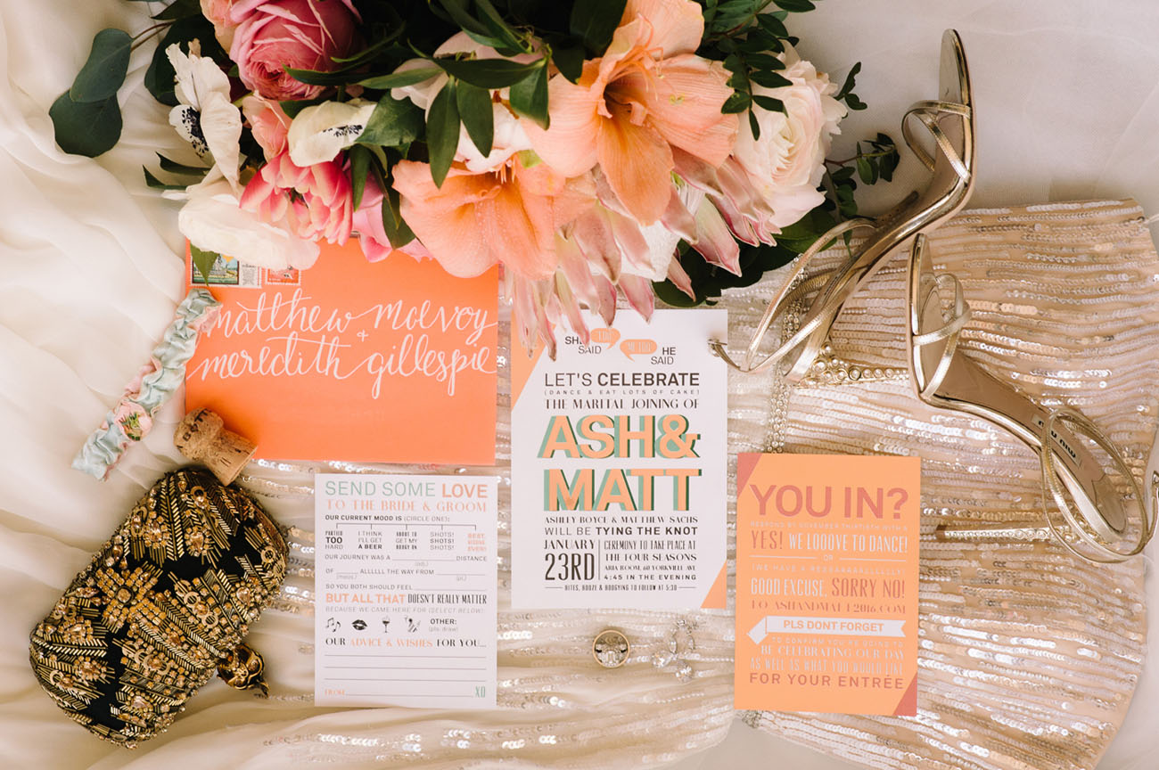 Picture Of black and gold wedding filled with confetti and champagne  2