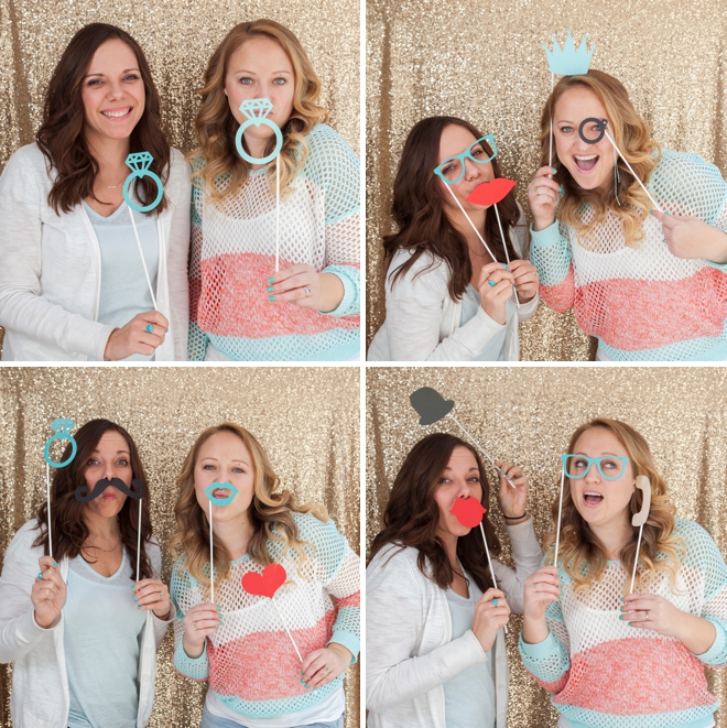 DIY free photo booth props on sticks (via somethingturquoise)