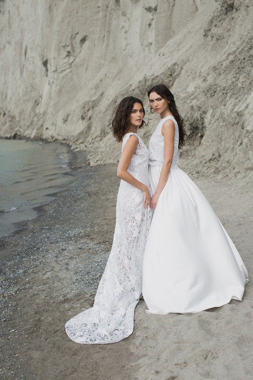 A lace gown is amazing for a boho bride, and the bridal separate with a lace top is great for fashion-forward brides