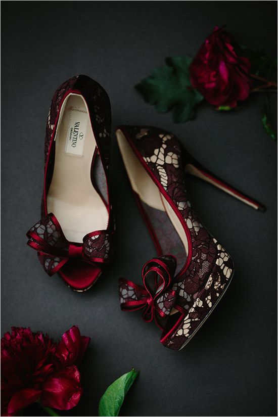 burgundy lace shoes