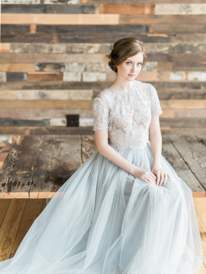 grey lace bridal separate