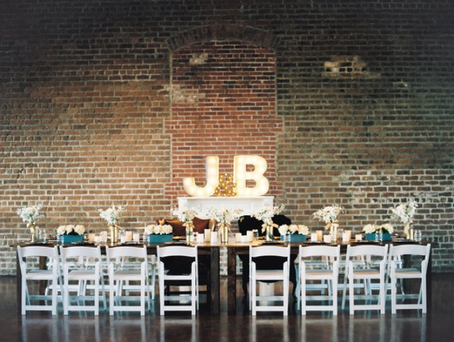 The venue was industrial-inspired yet homey