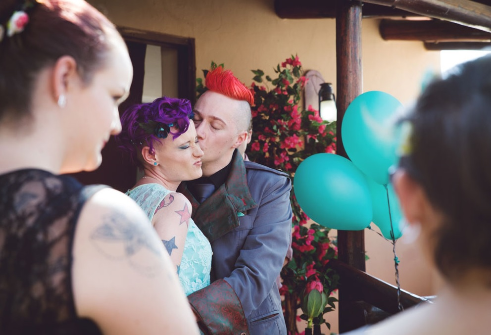 The wedding was super bold and memorable
