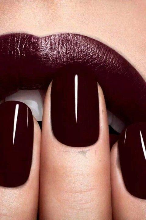 10 marsala lips and nails