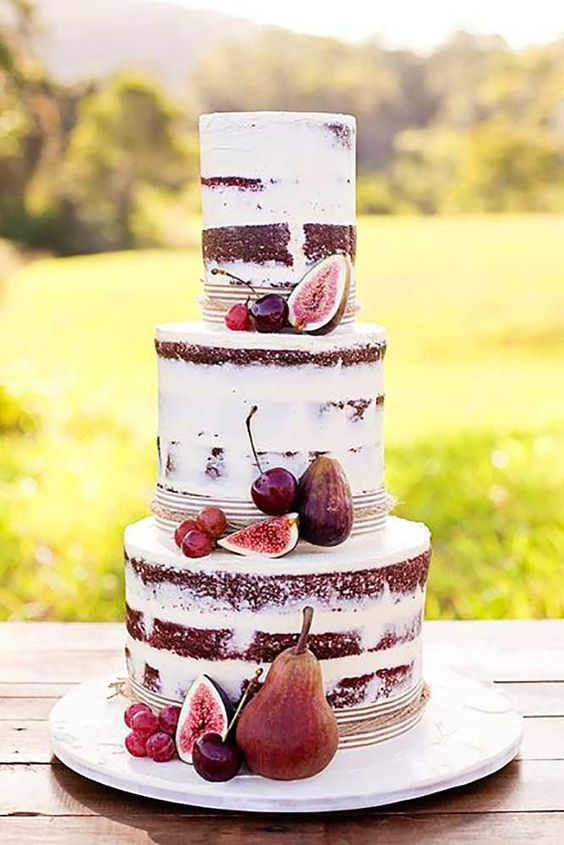 11 fall naked cake with figs and cherries