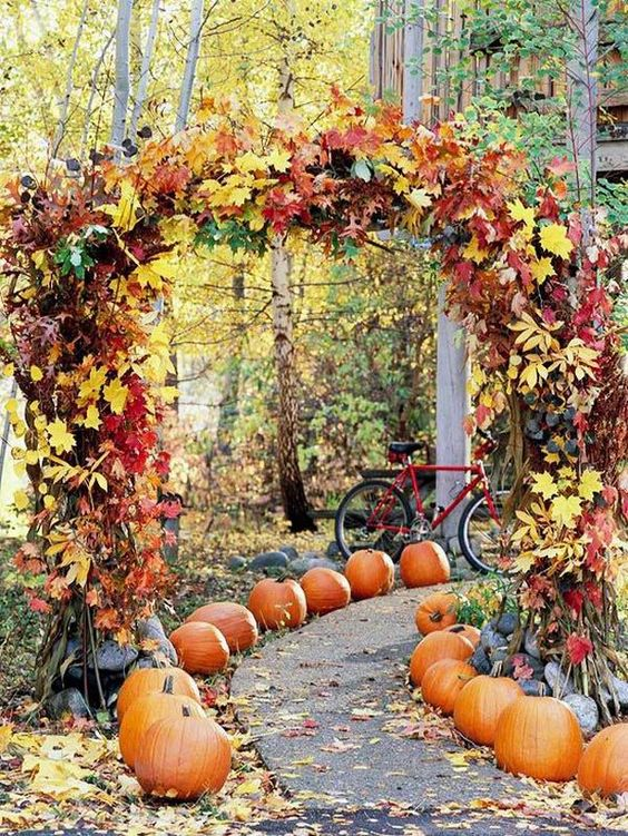 pumpkin wedding aisle