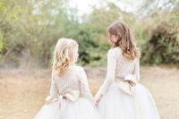 12 tutu skirts and lace blouses