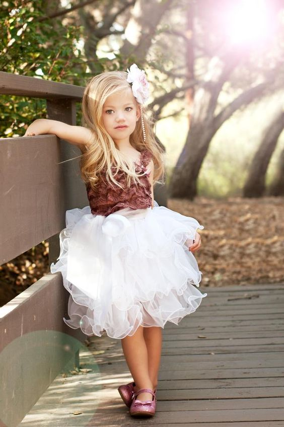 a white tutu skirt and a bold marsala top