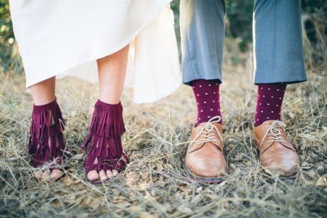 5887071355d6 fall bridal shoes. burgundy clutch bag burgundy shoe clips. deep red ...
