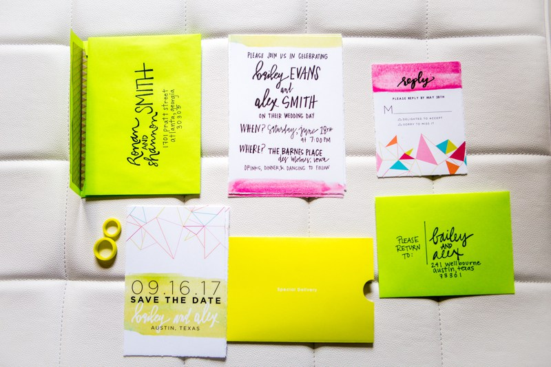 Enjoy the bold stationery and feel the colors