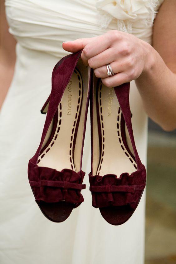 110e810b6954 ... Burgundy Prom Pumps High Heels Wedding Platforms Pealrs Rhinestones. 16  suede shoes