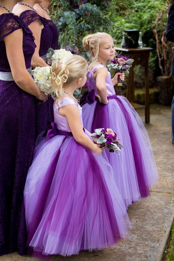 Lavendar flower girl dresses