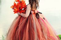 18 bold shades of red and brown tutu dress