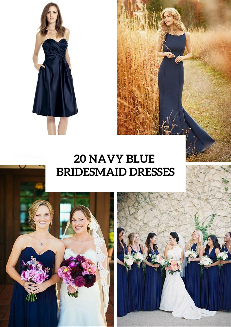 20 amazing navy blue bridesmaid dress ideas weddingomania 20 amazing navy blue bridesmaid dress ideas ombrellifo Choice Image