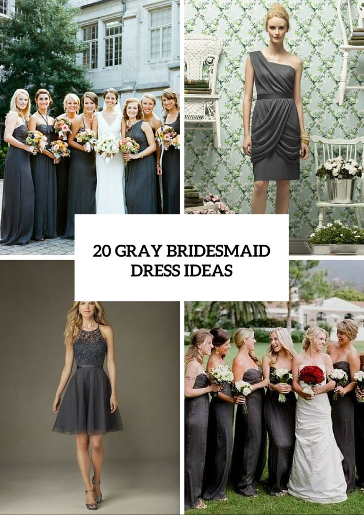 Gorgeous Gray Bridesmaid Dress Ideas For Fall Weddings
