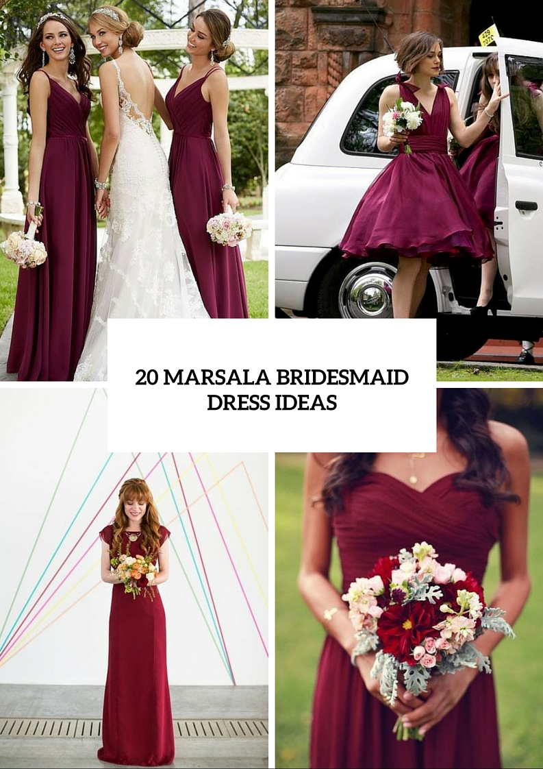 Stunning Marsala Bridesmaid Dress Ideas For Fall Weddings