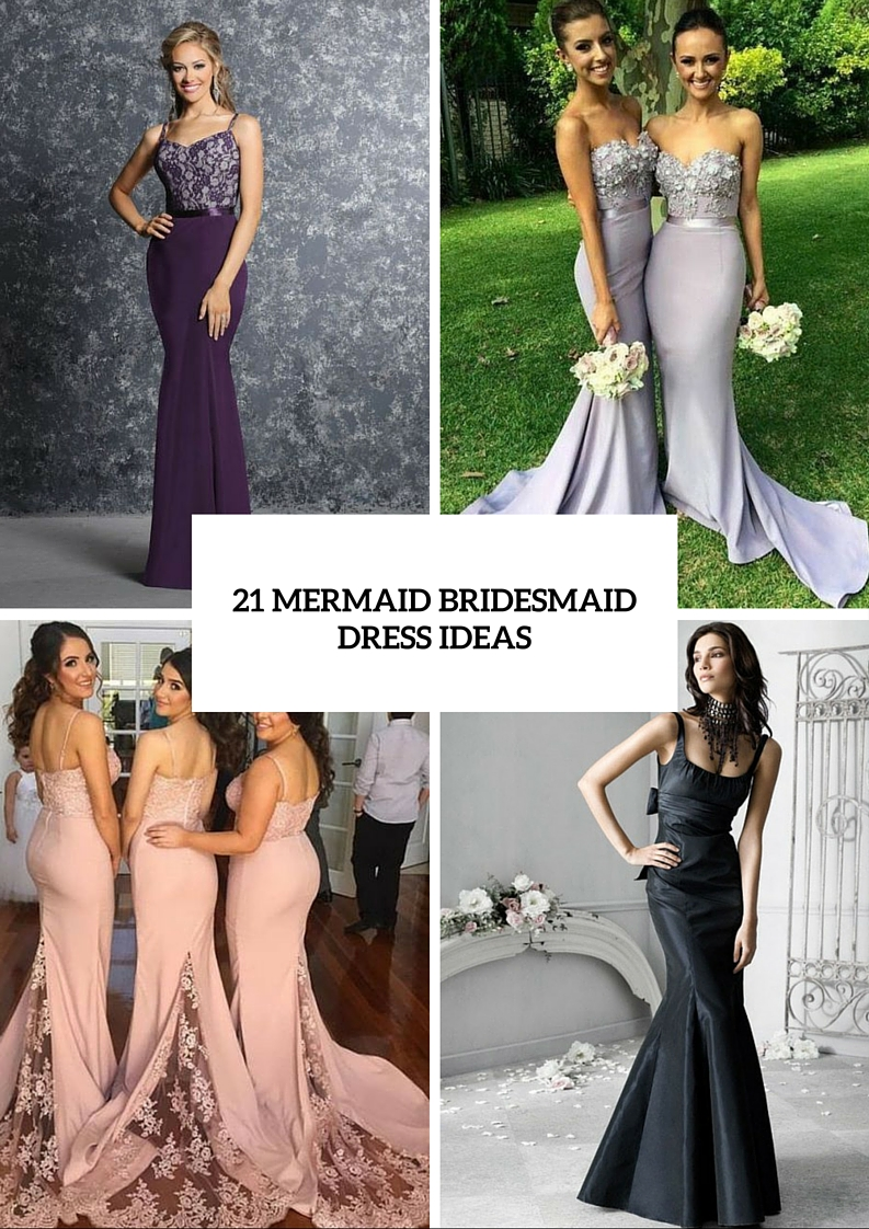 21 fabulous mermaid bridesmaid dress ideas weddingomania 21 fabulous mermaid bridesmaid dress ideas ombrellifo Images