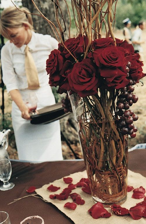roses wedding centerpieces
