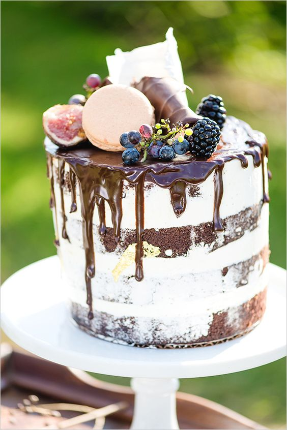 chocolate drip wedding cake ideas 27 fall wedding cakes that will make your 12699