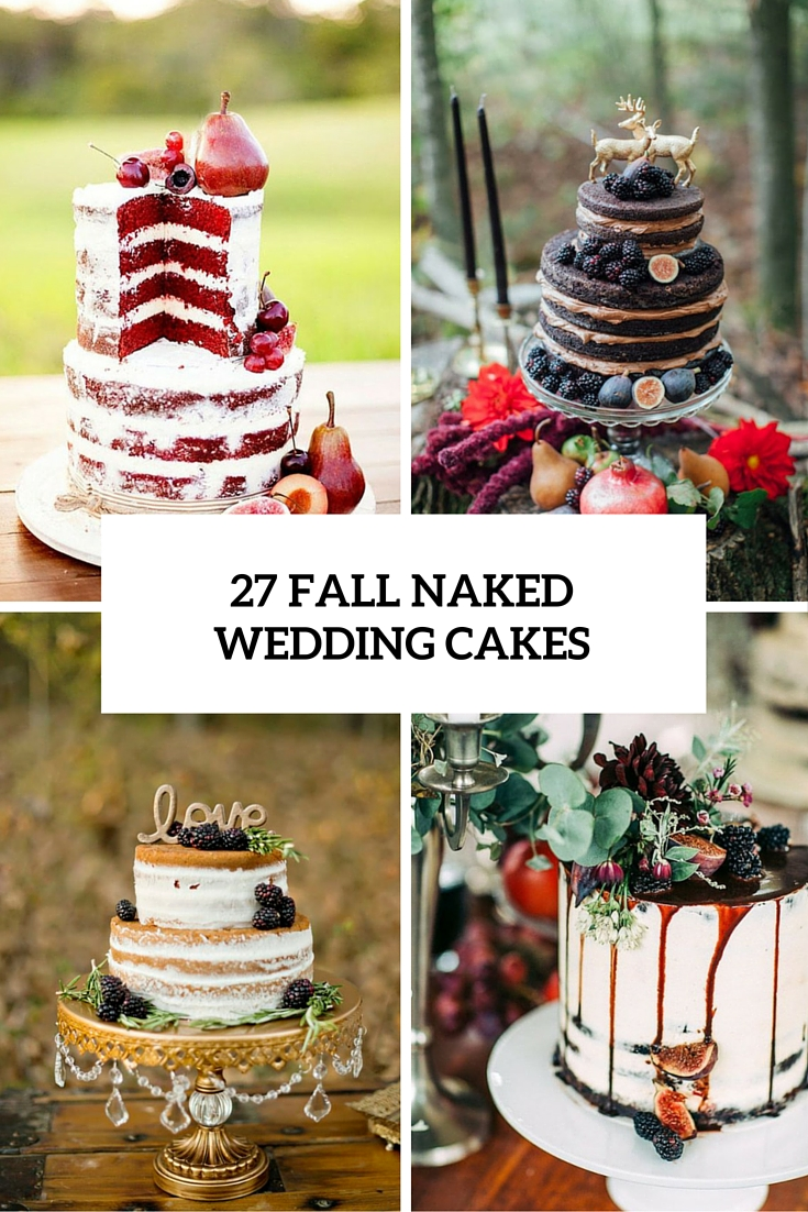 26 fall naked wedding cakes cover