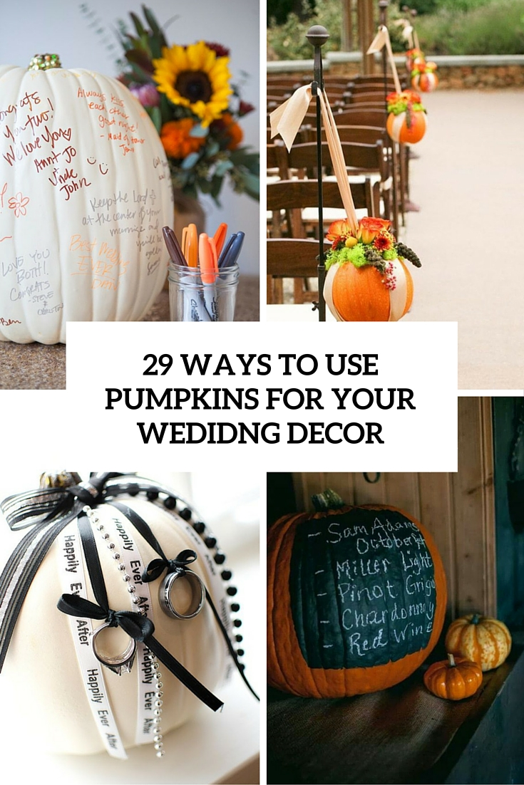 ways to use pumpkins for your wedding decor cover