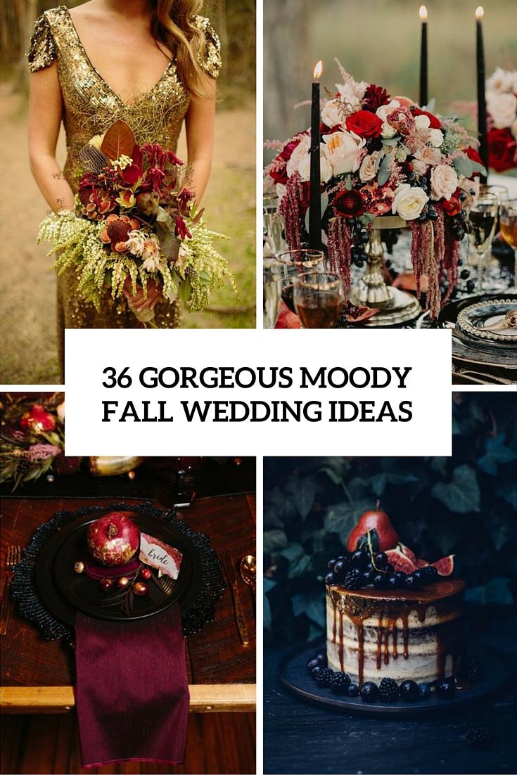gorgeous moody fall wedding ideas cover