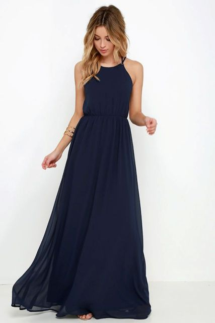 Airy halter chiffon dress idea