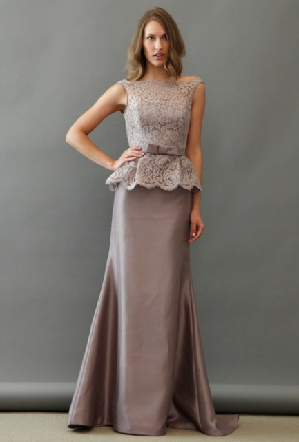 Awesome maxi dress with lace top