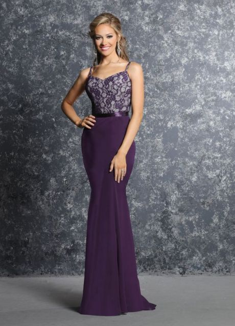 Awesome purple trumpet dress