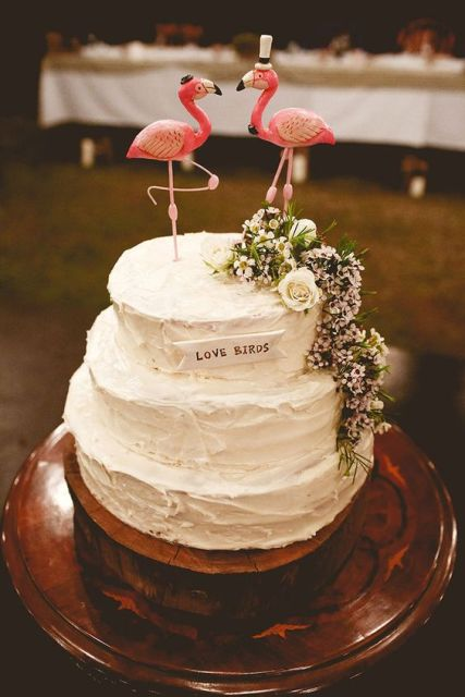 Awesome waxflower addition to wedding cake