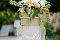 Beautiful lucite wedding sign