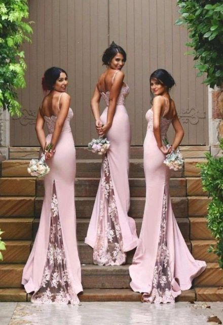 Beautiful pink mermaid dresses