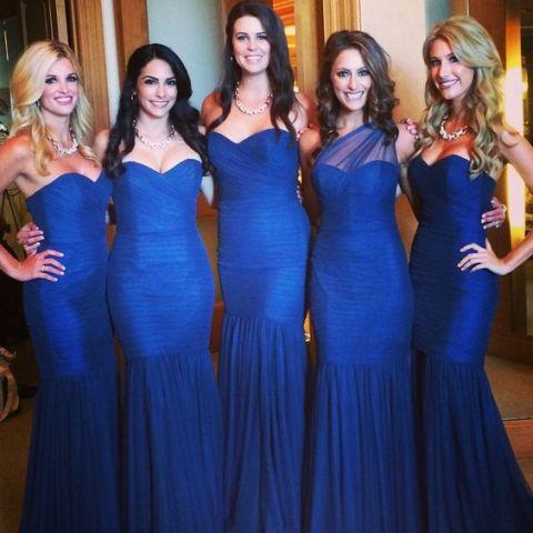 Blue trumpet dress