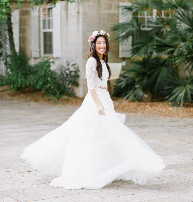 Picture Of Bohemian Garden Wedding In Florida 4