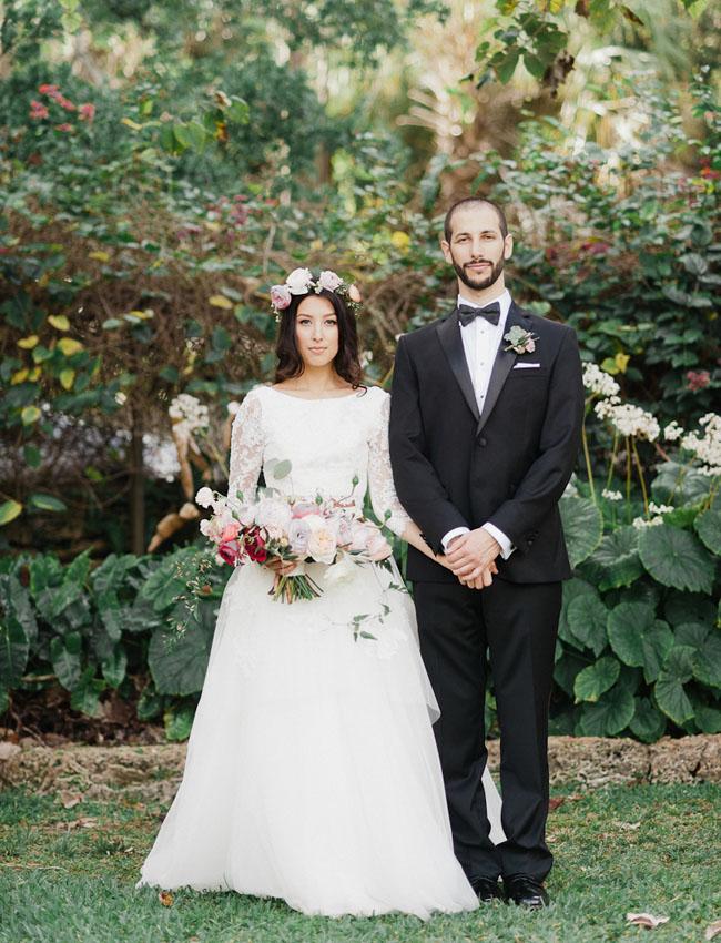 Picture Of Bohemian Garden Wedding In Florida 8