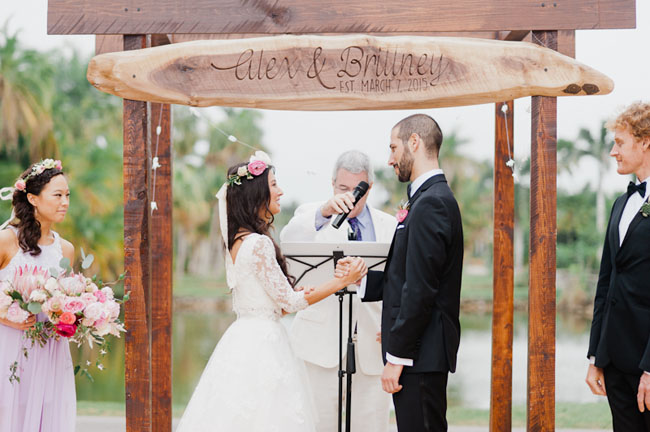 Picture Of Bohemian Garden Wedding In Florida 9