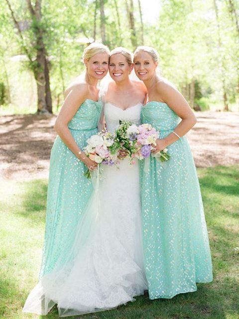 Charming glitter maxi strapless dresses