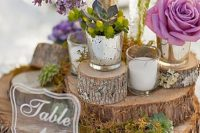 Charming lucite table numbers
