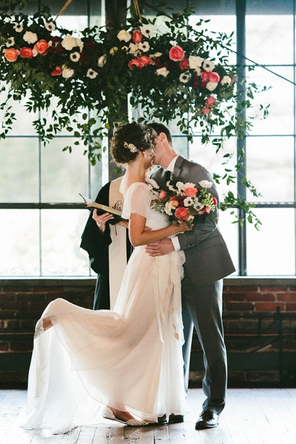 Picture Of Chic Industrial Atlanta Wedding 9