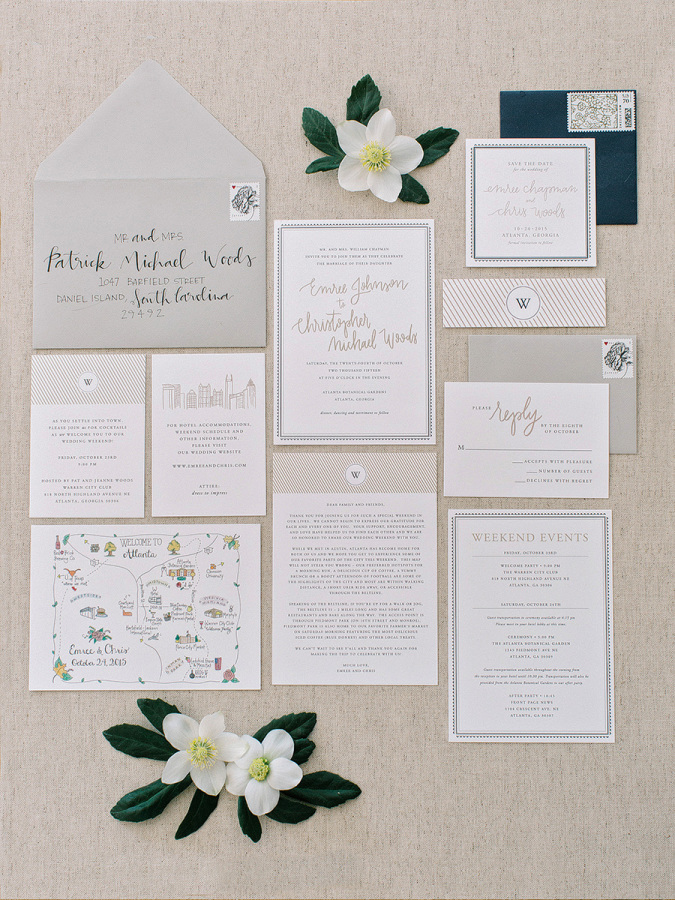 Classic Botanical Wedding In Atlanta
