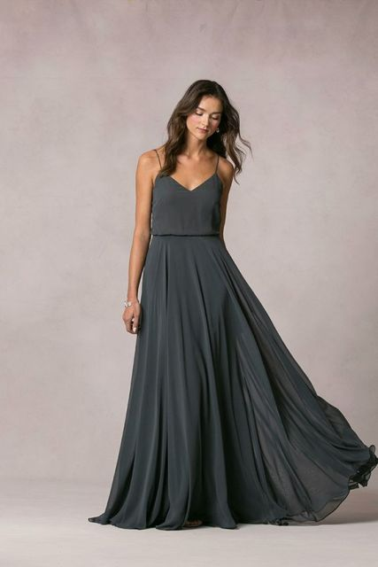 Comfy deep gray maxi dress