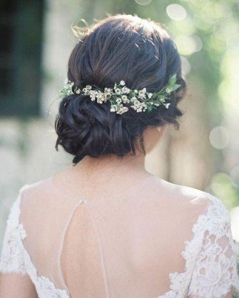 Cute hair accessory for brides
